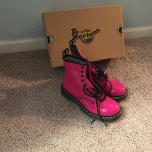 Adorable Doc Martin Hot Pink Boots